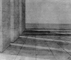 """Walls, space and light* « Journal> """"Espaces rythmiques"""" by Adolphe Appia Scenic Design, Figure Drawing, Trees To Plant, Natural Light, Architecture, Drawings, Theatre, Walls, Journal"""