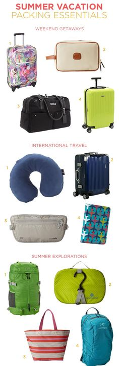 Our favorite bags and accessories for weekend getaways, international travel, and summer exploration. #summertime #vacation