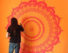 Mandala Wall Painting -> hacerlo en el florero rojo!!!