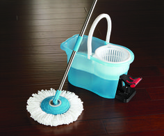 Never touch dirty water again with the mop that literally spins dirt away! Great for any type of floor, its 360º swivel head and super light alloy handle can clean in corners and even under furniture without moving it.