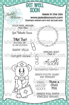 Get Well Soon  www.jadedblossomstamps.com