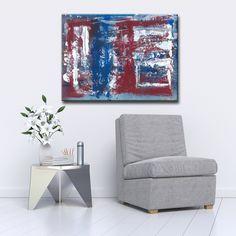Max+E 'Red, White & Blue' Canvas Art Print