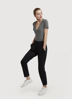Mulberry Pant in hthr dk navy | Kit and Ace