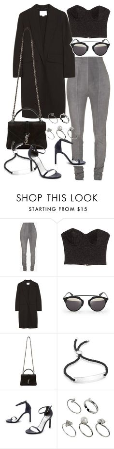 """Untitled #20630"" by florencia95 ❤ liked on Polyvore featuring Balmain, Alexander Wang, Christian Dior, Yves Saint Laurent, Monica Vinader, Stuart Weitzman and ASOS"