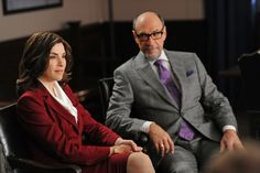 Alicia Florrick in her signature red Still of Julianna Margulies and F. Murray Abraham in The Good Wife Julianna Margulies, Current Tv, Good Wife, Picture Photo, Tv Series, Good Things, Pictures, Photos, Fictional Characters