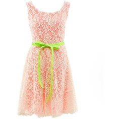 Zunie 7-16 Lace-Overlay Dress ($75) ❤ liked on Polyvore