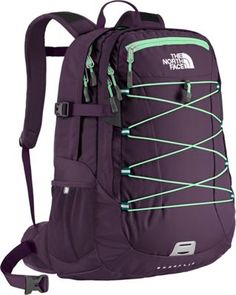 Women's The North Face Borealis Backpack Dark Eggplant Purple/Greenwich Green Size One Size The North Face, North Face Women, North Faces, North Face Rucksack, Cute Backpacks For School, Trendy Backpacks, North Face Borealis, Backpack Reviews, Backpack For Teens