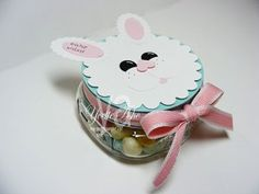 easter stampin up - jar topper or a bag accent, cute on a banner or scrapbook page
