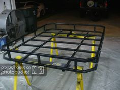 Vincent Keene uploaded this image to 'Jeep Roof Rack'. See the album on Photobucket. Jeep Xj Roof Rack, Jeep Racks, Truck Roof Rack, Car Roof Racks, Roof Rack Basket, Hors Route, Montero Sport, Jeep Wj, Diy Roofing