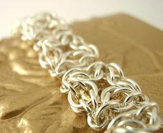Celtic Labyrinth Sterling Silver and 14kt Gold Filled Bracelet by unkamengifts