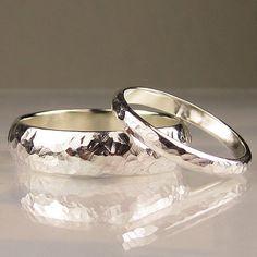 Sterling Silver Wedding Band Set. $128.00, via Etsy.