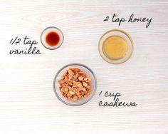 Delicious Honey Vanilla Cashew Nut Butter Recipe |Smoothie Addition | For 120 recipes of nourishing inspiration head to lornajane.com/nourish