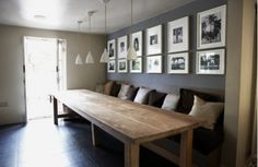 Contemporary Country dining space (image source unknown)