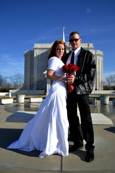 our lds bride in front of the st louis temple ldsbride templeready