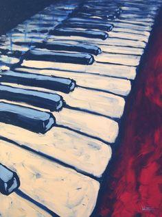 "Saatchi Online Artist: Paul Whitt; Acrylic, 2011, Painting ""Piano"""