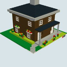 The lego version of my house.