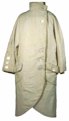 Marshall Field & Company U.S.: Illinois, Chicago Coat (woman's) 1915 - 1920 Plain weave; Satin weave; Corduroy weave Wide wale corduroy; Silk satin; Pearl buttons TC 83.10-70