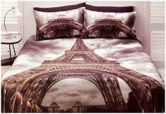 Paris Quilt Doona Duvet Cover SET Bedding France Eiffel Tower Travel Microfibre   eBay