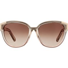 Chloé Alexi Sunglasses featuring polyvore, fashion, accessories, eyewear, sunglasses, colorless, logo sunglasses, clear lens sunglasses, oversized clear glasses, over sized sunglasses and logo lens sunglasses
