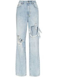 Ksubi Playback Distressed High-waisted Jeans In Blue Fall Outfits, Cute Outfits, Fashion Outfits, Jean Outfits, Fashion Tips, Fashion Trends, Teenage Outfits, Moda Online, High Waist Jeans