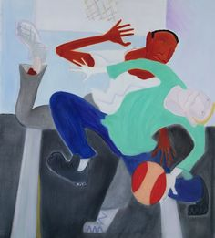 """Pick Up  oil/canvas, 62x54""""  #art #artists #painting #pickup #bball"""