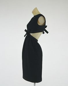 cocktail ensemble, yves saint laurent, 1967.  Worn by Baby Jane Holzer.