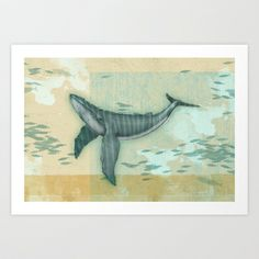rhythm of the whale Art Print by Vin Zzep - $18.00