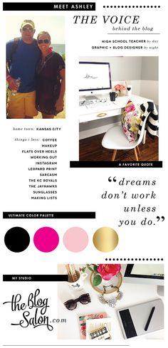 LOVE this blogger's about page. Major inspiration! Ashley Ella Design: About