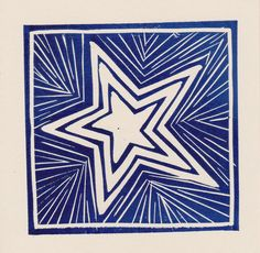 Dark Blue Star card by LizHarrapHortonCards on Etsy