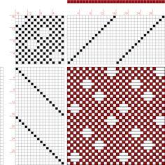 Weaving Draft Figure 679, A Handbook of Weaves by G. H. Oelsner, Germany, 1915, #12809