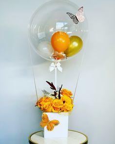 Balloon Box, Balloon Gift, Balloon Flowers, Balloon Bouquet, Balloon Crafts, Birthday Balloon Decorations, Diy Party Decorations, Birthday Balloons, Balloon Arrangements
