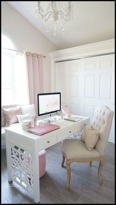 Pretty Home Office Best Serta Office Chair Picks And Alternatives . Pretty White Home Office Ideas Home Office Space . Remodelaholic Rustic Modern Home Office Design . Home and Family Decor, Room, Home Office Decor, Interior, Home Decor, Room Inspiration, House Interior, Bedroom Decor, New Room