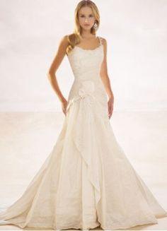 $285.49 Spaghetti Straps Taffeta #A-Line #Wedding #Dress With Pleats