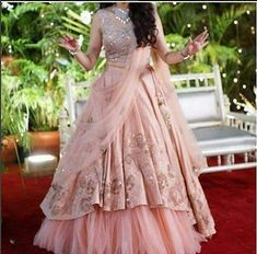 Meanwhile fashion in India Indian Wedding Gowns, Indian Bridal Outfits, Indian Gowns Dresses, Indian Bridal Lehenga, Gown Party Wear, Party Wear Lehenga, Designer Party Wear Dresses, Indian Designer Outfits, Designer Gowns