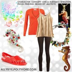Character Concept (On a Budget): Sheldon from Finding Nemo, created by allybye on Polyvore
