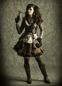 Nice Steampunk outfit. Maybe good for Lolita?.