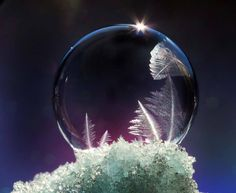 Frozen Soap Bubbles Look Like Nature's Crystal Snow Globes | The Creators Project