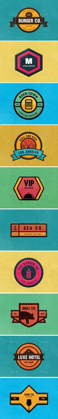 10 Logos & Badges Pack #design Download: http://graphicriver.net/item/10-logos-badges-pack-01/12974792?ref=ksioks