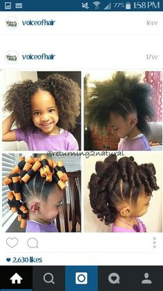 From pony puffs to decked out cornrow designs to braided styles, natural hairstyles for little girls can be the cutest added bonus to their precious little faces. Cute Little Girl Hairstyles, Natural Hairstyles For Kids, Baby Girl Hairstyles, Black Girls Hairstyles, Cute Hairstyles, Braided Hairstyles, Toddler Hairstyles, Children Hairstyles, Teenage Hairstyles