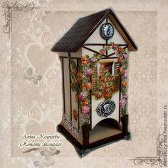 """Купить Чайный домик """"Розовое великолепие"""" - чайный домик декупаж, чайный домик для кухни"""