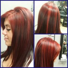 Fun Red!!!  By Shannon Young.  Studio Red Salon.  Martins Ferry,  Ohio.