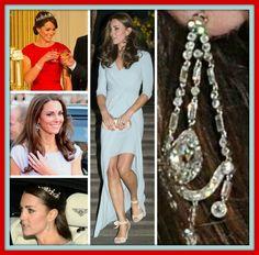 Chandelier earrings from the queen