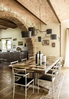Library in a farmhouse in Tuscany, Italy designed by D.Mesure - Elodie Sire