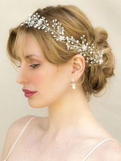 "Bohemian Inspired Beaded Bridal Vine Headband ~ ""Shivani"" - Bridal Hair Accessories by Hair Comes the Bride"