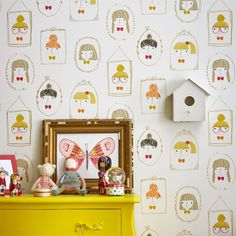 Style Library - The Premier Destination for Stylish and Quality British Design | Products | Hello Dolly Wallpaper (NSCK111266) | Guess Who? Wallpapers | By Scion