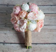Peach Ivory and Blush Peony and Garden Rose Wedding by Kate Said Yes Weddings, www.katesaidyes.e...