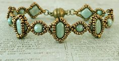 Linda's Crafty Inspirations: Free Pattern - Silky Cameo Bracelet #Seed #Bead #Tutorials