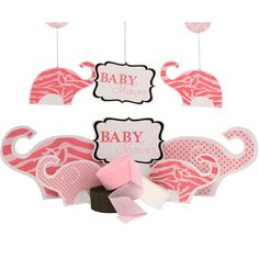 Pink Zoo Baby Shower Decoration Package