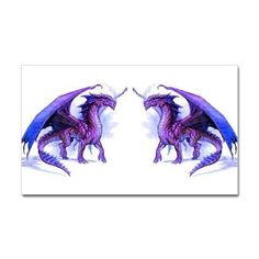 Purple Dragons Decal on CafePress.com