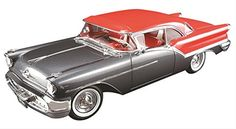 1957 Oldsmobile Super 88 Charcoal Grey / Festival Red Limited Edition to 762pcs 1/18 by Acme A1808001 - Diecast Model Cars